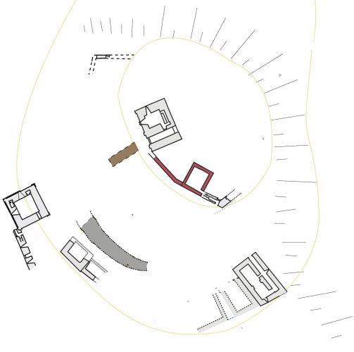 Fig. 5. Le château de Biron au début du XIIIe siècle