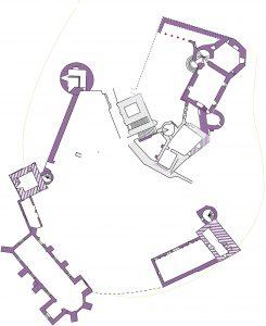 Fig.6. Le château de Biron au début du XVe siècle