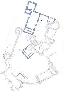 Fig.7. Le château de Biron à la fin du XVIe siècle
