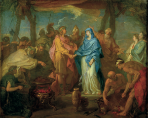 Darius donne sa fille Mandane en mariage à Cyrus ; 28e épisode de la Cyropédie, par Hyacinthe COLLIN DE VERMONT (© Musée des Beaux-Arts de Tours)
