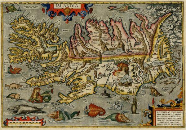 Abraham Ortelius, Carte de l'Islande, Anvers, 1603.