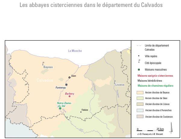 Fig. 1 : Situation de Barbery dans le département du Calvados
