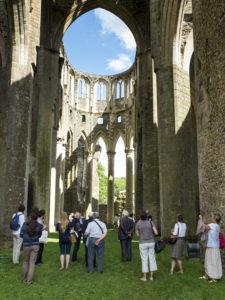 Visite de l'abbaye d'Hambye