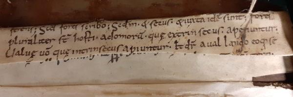 Avranches BM 97. Premier fragment de Rémi d'Auxerre