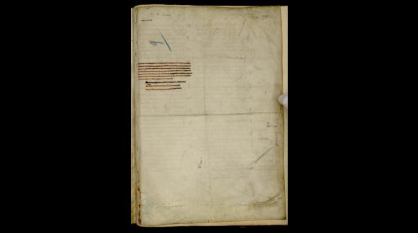 Avranches, ms 98, f. 228r. Marques de pliures